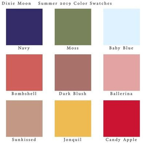 Dixie Moon Color Swatches Summer 2019