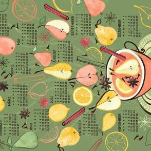 German 2022 Calendar, Monday / Spiced Pear