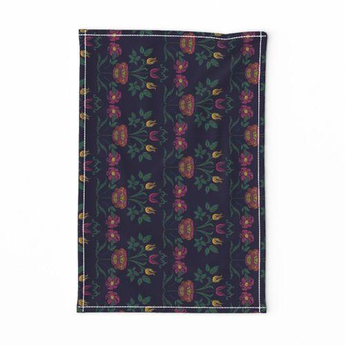 Fabric By The Yard Folk Art Flowers