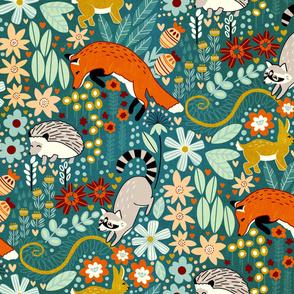Textured Woodland Pattern (Large Version)