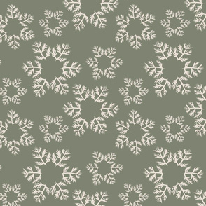 Snowflakes Green