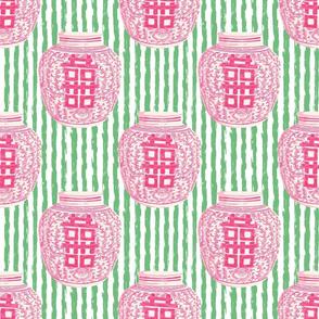 pink ginger jar