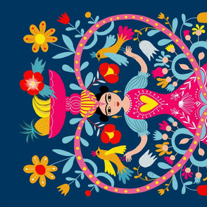 teatowel mexican folk art