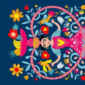 teatowel mexican folk art