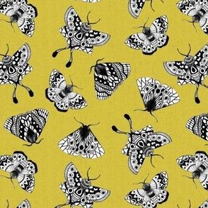 Moths Textured V.02 - Moss Green