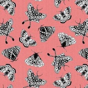 Moths Textured V.02 - Pink