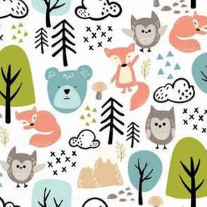 Textured Woodland Animals