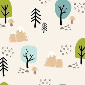Woodland Trees-Beige