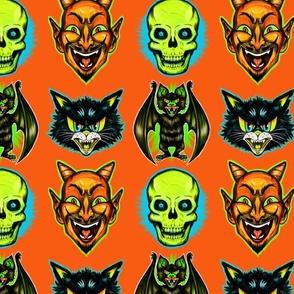Retro Halloween (yellow skull) 428