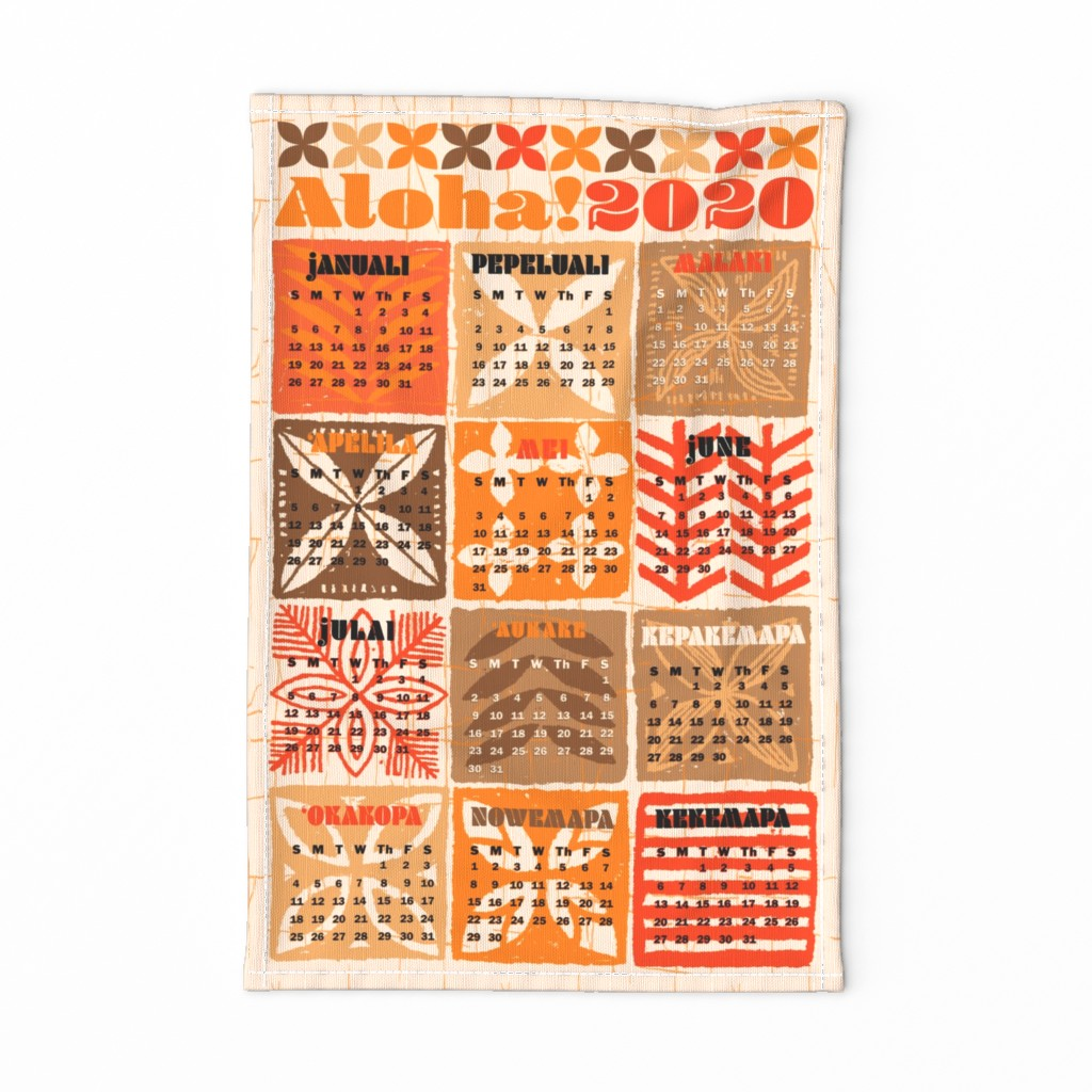 Special Edition Spoonflower Tea Towel featuring Aloha 2020 1a by muhlenkott