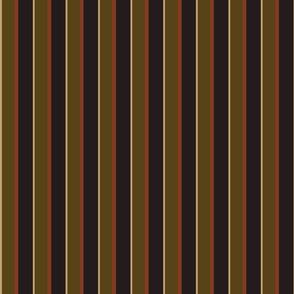 Stripes - Dark Grey, Tan and Green