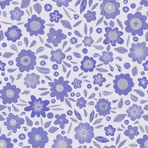Paddington flowers blue Small