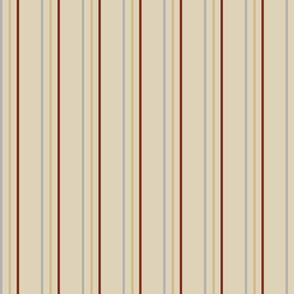 Stripes - Crimson, Grey and Tan