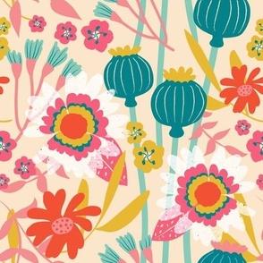 Retro Bright Floral Repeat