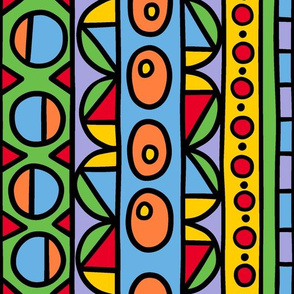 whimsical and colorful geometric stripe smaller