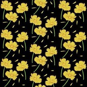 Dark Florals- Gold