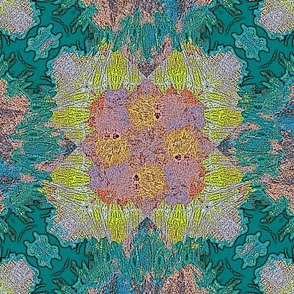Abstract Floral Grid