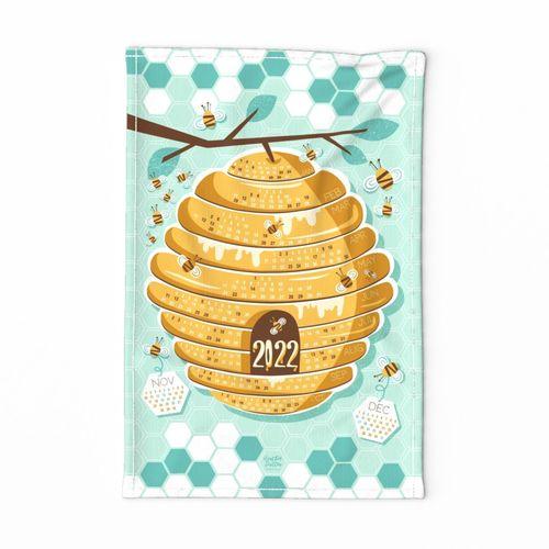 2022 Calendar Tea Towel - Save The Bees