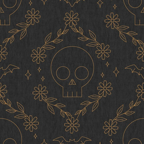 Skull Ogee-Grey - large scale