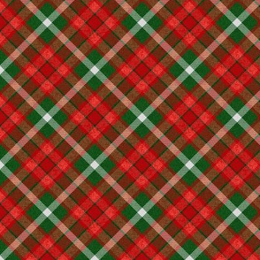Custom Christmas Red and Green Apple Plaid