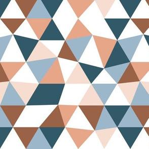 Modern geometric triangle pattern winter blue ocean beach palette