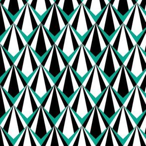 Deco Geometric Teal Medium