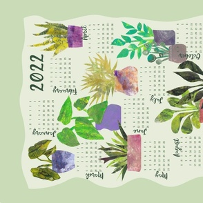 Home is where the Plants are 2021 Tea Towel