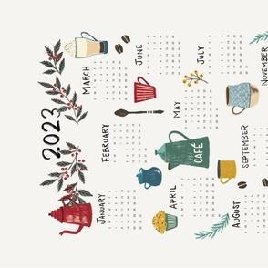 2021 Coffee Calendar Tea Towel