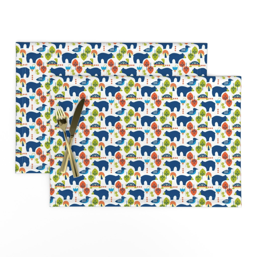 Lamona Cloth Placemats featuring woods icons by cindylindgren