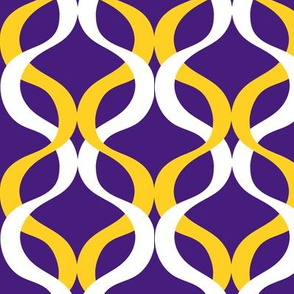 PuRple and yellow team color wave purple background