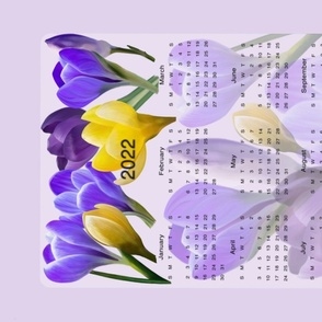 Crocus Calendar Tea Towel