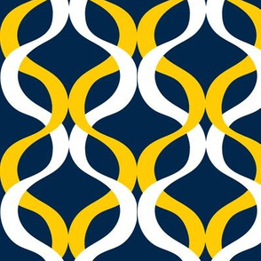 Yellow and Blue Team Color Wave blue background