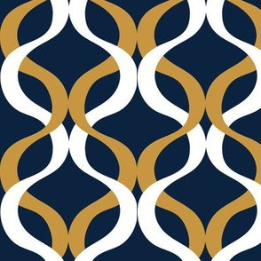 Gold and navy Wave navy background