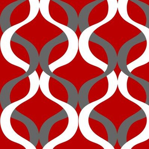 scarlet red and grey wave red background