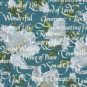 Names of Christ | Calligraphy | Teal