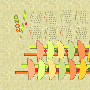 2020 is balanced, a tea towel calendar by Su_G_©SuSchaefer