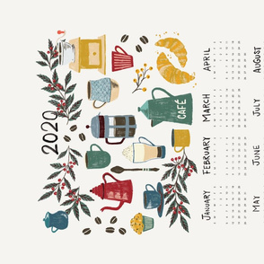 2020 Coffee Calendar Tea Towel 2