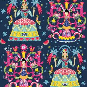 mexican fiesta folkart big