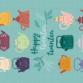 Happy twentea twentea tea towel calendar