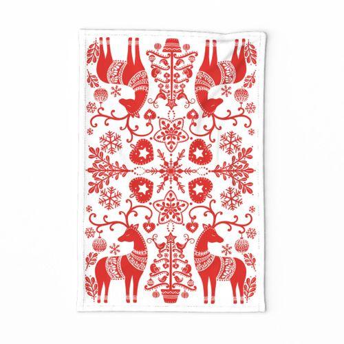Scandinavian Christmas Tea Towel