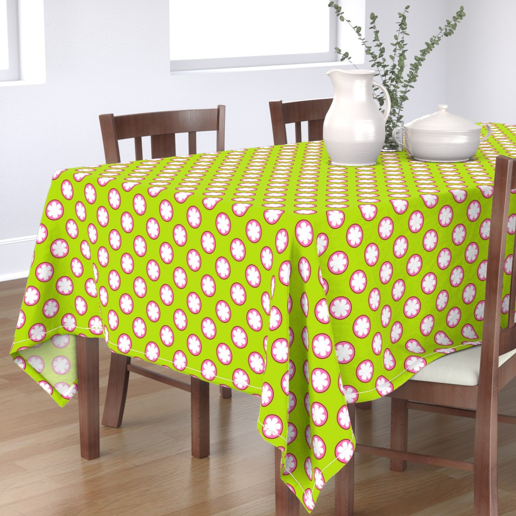 Bantam Rectangular Tablecloth featuring Mangosteen Fruits (Small) by nekineko