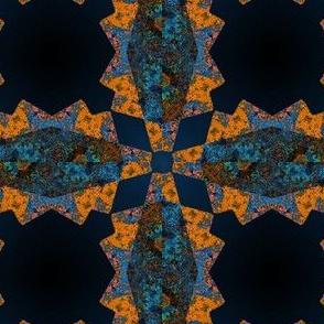 Sunquilt in blue and orange