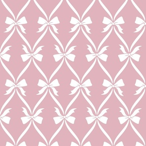Bows in Soft Diamonds Pink