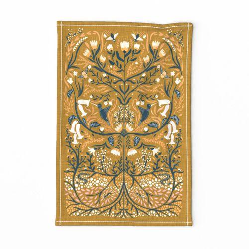 Ecosystems - Folk Art Tea Towel - Fat quarter Project