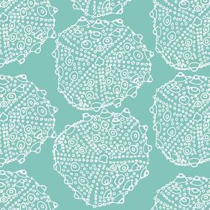 Bumpy Sea Urchin Sea Glass Green