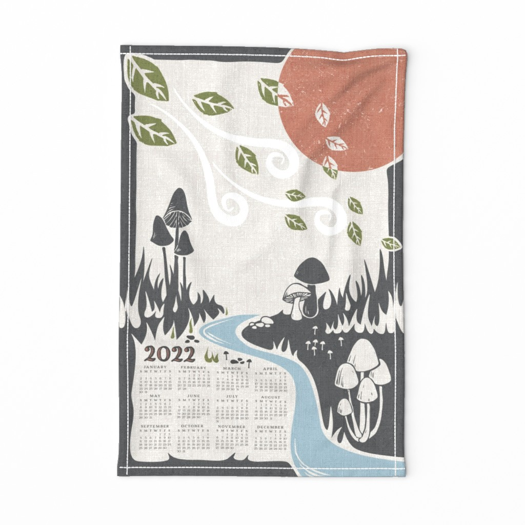 Special Edition Spoonflower Tea Towel featuring mushroom cove by fleabat