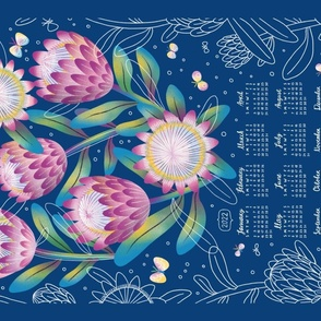 Protea tea towel calendar 2020