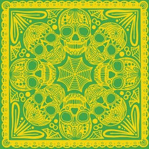 Green Sugar Skull Tile
