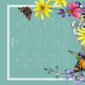 2020 Pollinators Tea Towel Calendar