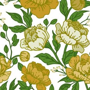 Chintz floral in golden